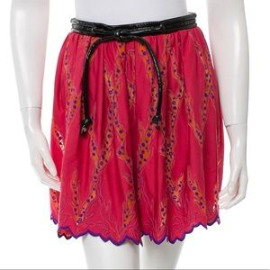 Dresses & Skirts - Louis Vuitton Leather-Trimmed Embroidered Skirt
